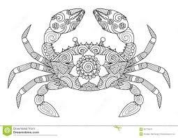Small Picture crab zentangle coloring page Adult ColouringUnder the Sea