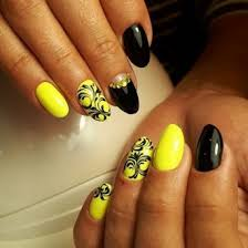 Black And Yellow Nail Designs 2018 2019 Photo Options Fashionable