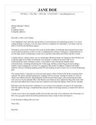 95 Marketing Cover Letter Examples Marketing Cover Letter Example