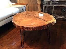 live edge round coffee table enchanting raw wood coffee table live edge with hairpin legs contemporary