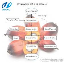 Physical Refining Method Palm Oil Refining Process Flow