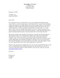 Writing A Cover Letter For Internship Sample Engineering How To