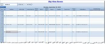 Excel Contact Scheduler Excel 4 Business