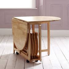 folding dining table on wheels foldable chairs that fit in centre round table with fold down