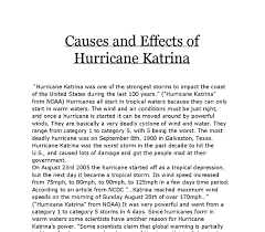causes and effects of hurricane katrina gcse geography marked  document image preview