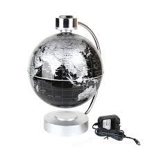 220v desk toy educational magnetic levitation floating globe world map gift 8 inch black color