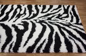image of zebra print carpet tile