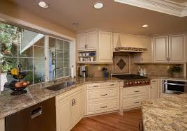 Beautiful Kitchen Backsplash Beautiful Kitchen Granite Is Golden Beach With A Travertine