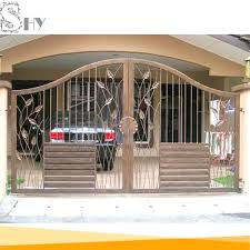 Latest Cheap House Wrought Iron Steel Main Gate Designs For Home ...