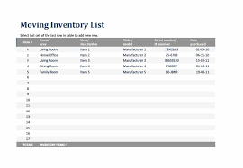 Office Inventory List Template 45 Printable Inventory List Templates Home Office Moving