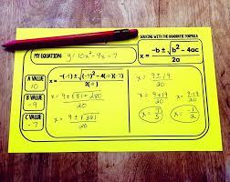 free quadratic formula warm up template