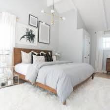 mid century modern bedroom. Mid-Century Modern Bedroom With Fur Rug, Chandelier Mid Century O
