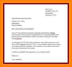 Application For Industrial Examples Letter Sample Example Of