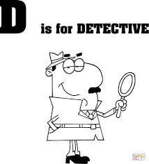 Small Picture Letter D is for Detective coloring page Free Printable Coloring