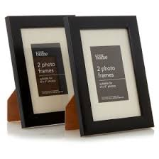 george home plastic photo frame black 6x4 2 pack undefined