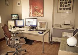 cool home office design. cool and charming home office design idea with wooden flooring