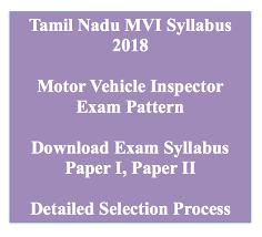 tnpsc mvi syllabus 2020 motor vehicle