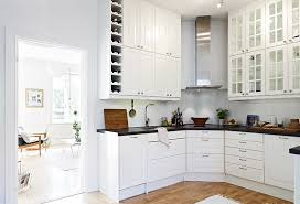Scandinavian style kitchen white cabinets picture