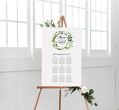 Custom Seating Chart Printable Table Chart Botanical