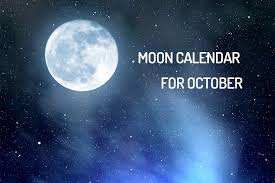 Moon Chart October 2018 Lunar Calendar For October 2018 Tips And Recommendations