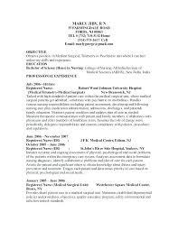 Rn Resume Med Surg Sample Year Experience Nursing Objective