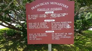 st anthony s monastery sign
