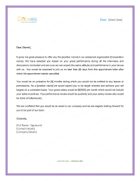 Sample Employment Offer Letter Template Job Appointment Letter For New Employee In 2019 Business