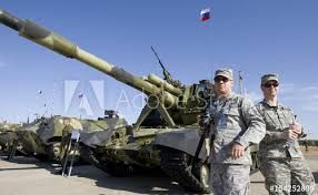 2010 Us Army Pay Chart Us Military Observers Walk Next To Russian Army Self