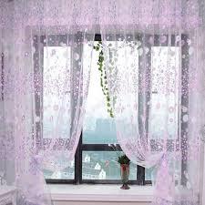 Купить Floral Printed Tulle Voile Window Curtain Sheer Drape ...