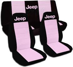 jeep wrangler black cute pink car seat covers