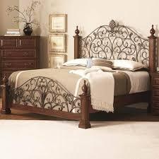Get Quotations Tiechuang queen iron bed wood frame Laredo Industrial bed  LOFT - Allen wooden iron