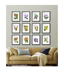 12 Pictures Images Wall Art Photo Prints Hanging Brown Golden Fabric Sofa  Design Pillow Flowers Plants ...