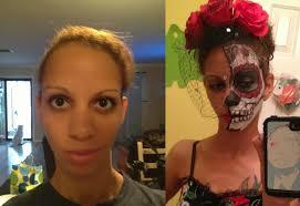 sugar skull makeup half face things i do when i39m bored sugar skull makeup
