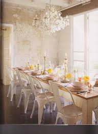 House Beautiful Rustic Dining Room House Beautiful - Dining room crystal chandeliers