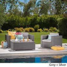Montpelier 4 pc Wood Patio Furniture Set Smith & Hawken