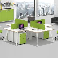 modular office furniture office workstation cubicle 4 seat modular office desk buy modular