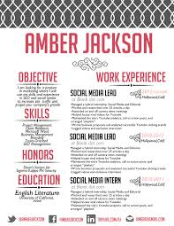The Amber Jackson Resume Design Custom Resume Creative Resume