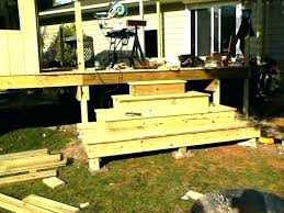 how to build deck steps without stringers how to build deck steps without stringers stair stringer