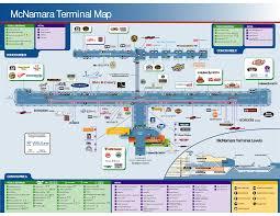 detroit airport delta gates  mcnamara terminal map food beverage