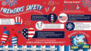 fire works safety fireworks safety tips summer shiner safety series