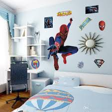 large kids wall stickers cartoon spiderman 3d wall decals for kids room diy superhero wall art posters