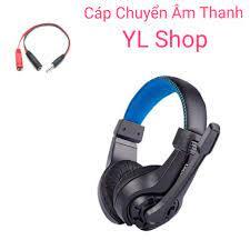 Tai nghe game thủ G1 có mic kèm cáp chuyển âm thanh ra điện thoại dùng tốt  cho cả điện thoại máy tính và laptop