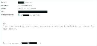 Sending Resume Email Extraordinary Resume Email Sample Capetown Traveller