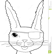 Sad Bunny Rabbit Outline Stock Illustration Illustration Of Empty