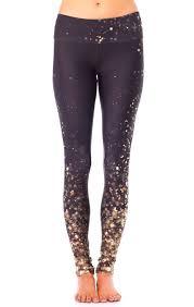 Goldsheep Falling Gold Lights Legging Fitness Fashion