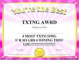 Funny Recognition Awards Teacher Appreciation Certificate