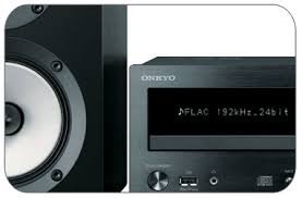 onkyo bookshelf stereo system. flac files sound great in onkyo. high-performance two-way bookshelf speakers onkyo stereo system n