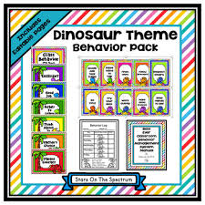 Clip Chart Behavior Management System Behavior Management System Dinosaur Behavior Management Clip Chart