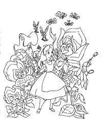 Small Picture Sheets Alice In Wonderland Coloring Page 34 For Your Gallery
