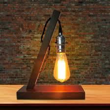 wooden vintage bedroom bedside table lamps for living room